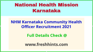 NHM karnataka community health officer recruitment 2021