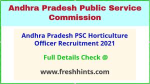 andhra pradesh psc HO recruitment 2021