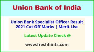 UBI Specialist Officer Selection List 2021