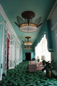 Hallway by Dining Room at The Greenbrier