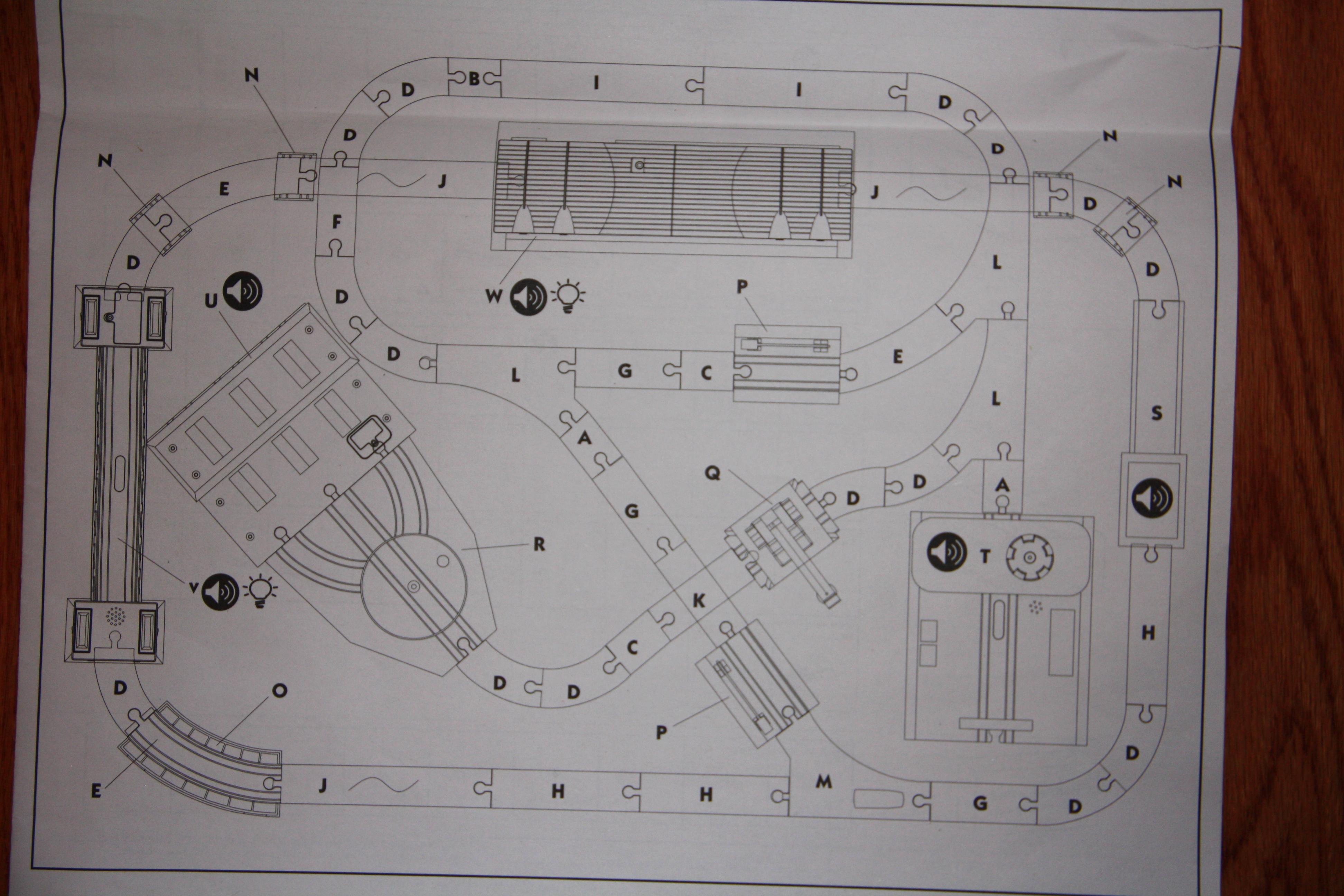 Imaginarium City Central Train Set Assembly Instructions.