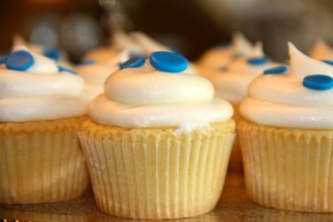 Cobalt & White Cupcakes