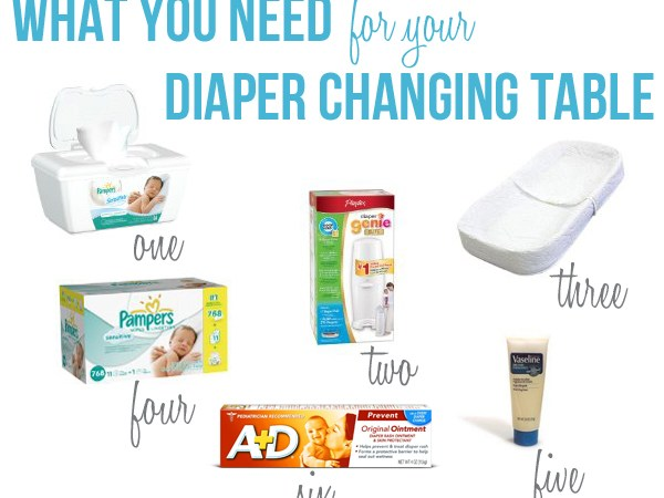 Everything You Need to Change a Diaper | Diaper Changing Table Supplies.