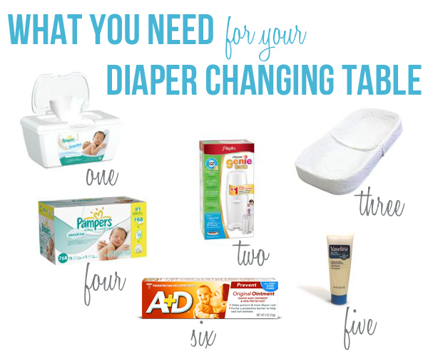 what you need for your diaper changing table