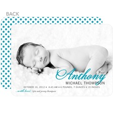 Aqua Photo Birth Announcement available from TinyPrints
