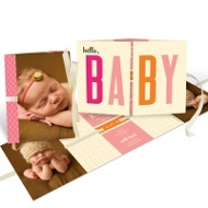 Baby Book Birth Announcement: available in pink for girl and blue for boy