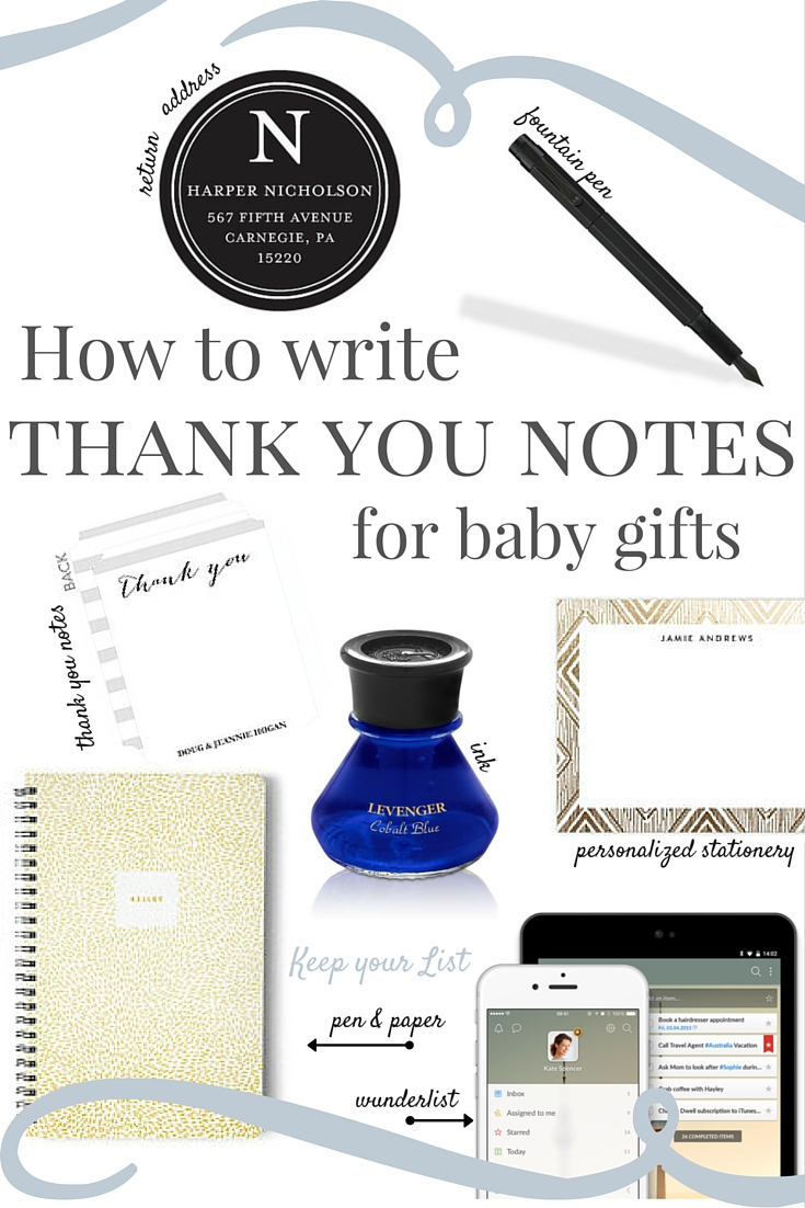 How to Write Thank You Notes for Baby Gifts.