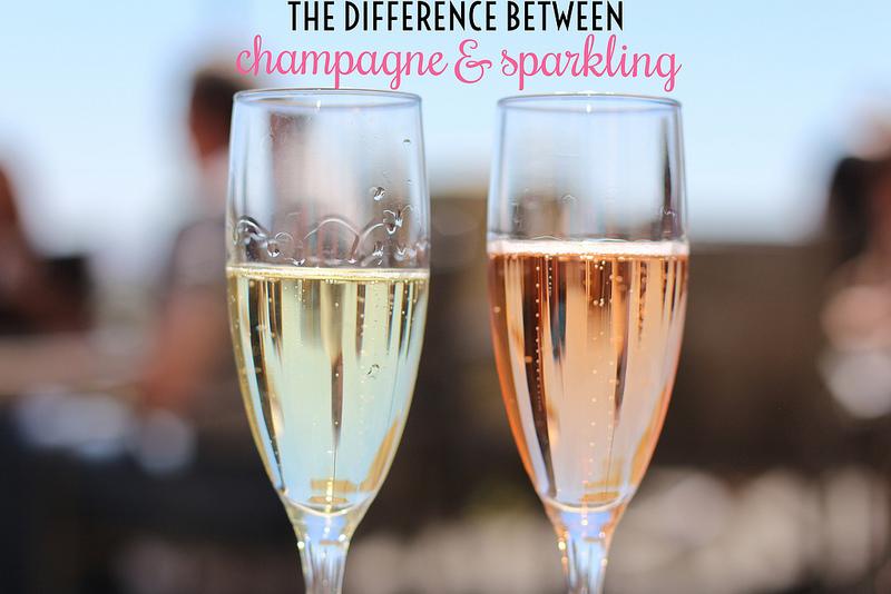 champagne v sparkling