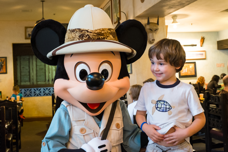 Mickey Mouse at Tusker House