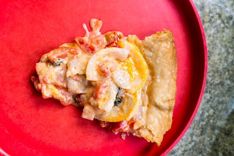 Slice of Pimento Cheese Tomato Pie