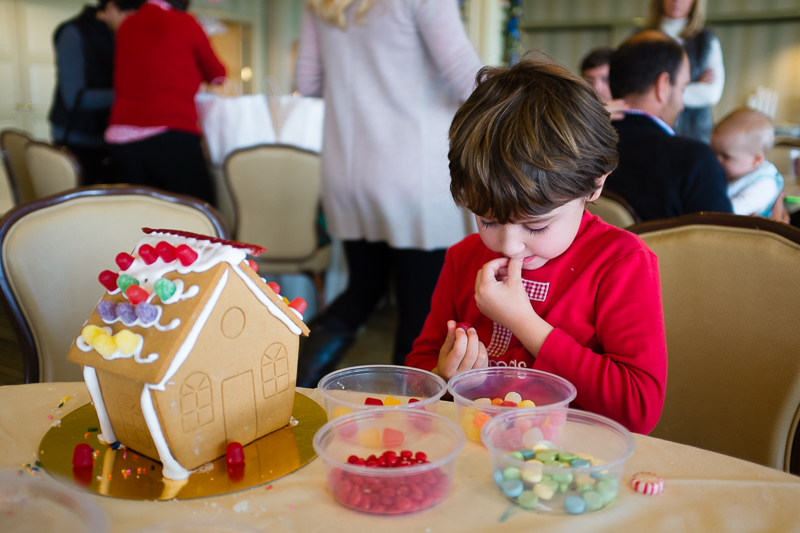 Caught on camera: taste testing the candy decor.