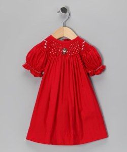 Christmas Smocked Bishop Dress