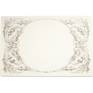 italian scroll paper placemat