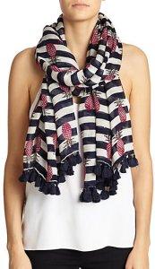 pineapple tassel scarf