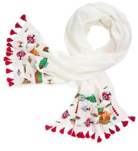 tory burch tassel scarf
