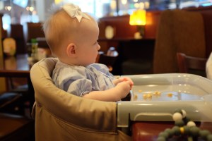 An unexpectedly useful baby item for travel and dining out: the fast chair