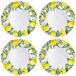 Lemon plates  sc 1 st  Freshmom & Melamine Lemon Plates