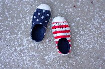 Patriotic toddler shoes