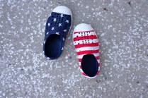 Patriotic toddler shoes