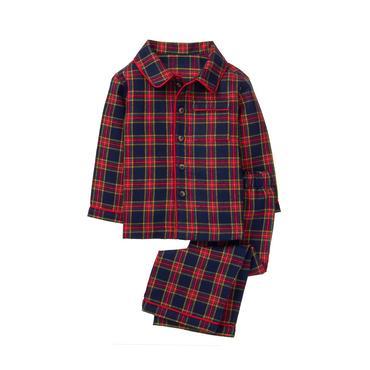 Plaid boys pajamas