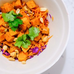 Sweet potatoes in a salad (you're welcome)