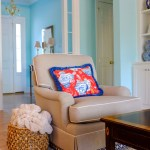 Pretty club chairs in the family-friendliest fabric