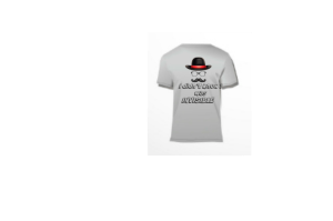 feeling invisible? T-shirt says I didn't know I was invisible. Has hat, glasses and a mustache to represent an invisible person