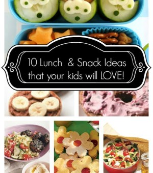 lunch snacks and ideas for kids