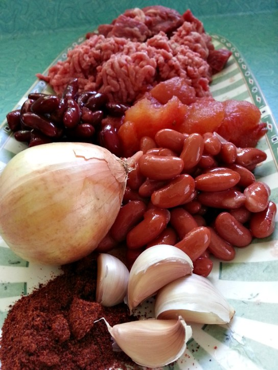 Freezer Chili Ingredients
