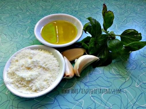 Freezer Pesto Ingredients