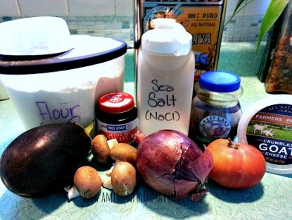 Homemade Personal Pizza Ingredients