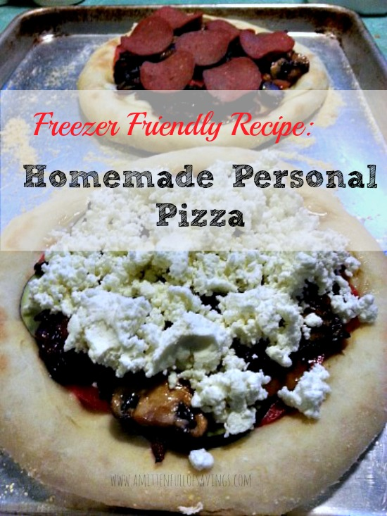 Homemade Personal Pizza Ready to Freeze