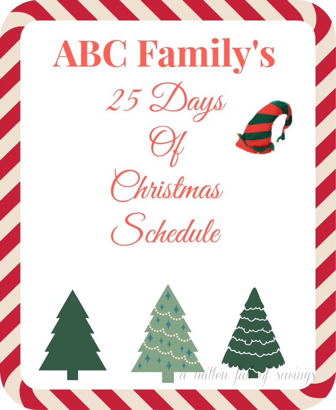 25 days of christmas schedule 2013