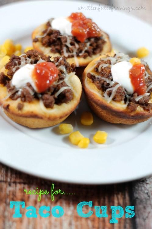 recipe for taco cups, taco recipes, easy meals