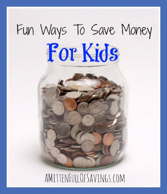 Get the kids into saving money. With these easy ways to save money, the kids can get into good financial habits at an early age! Here's Fun Ways to Save Money For Kids
