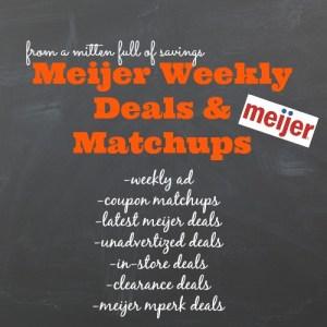 meijer deals, meijer weekly ad, meijer matchups, michigan meijer deals