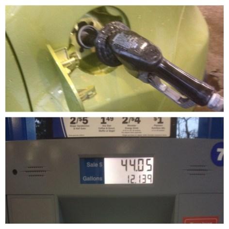 kia soul pumping gas