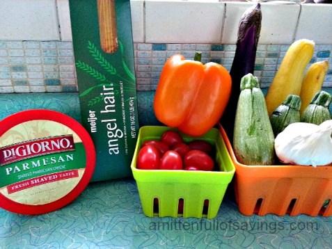 Summer Pasta Primavera Ingredients
