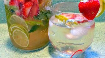 easy drinks, summer drinks, Strawberry Mojito Spritzers