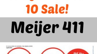 tips on how to shop a meijer 10 for 10 sale