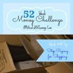 52 week challenge, money save ways, 52 week printable, 52 weeks