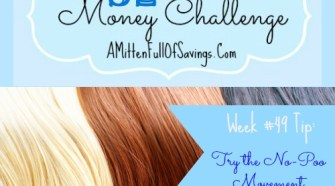 This week we're sharing tips on how to save on those hair products by trying the no-poo method. Come read this week's 52 Week Challenge Money Save Ways Tip!