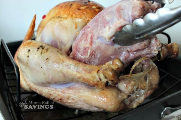 unthawing a frozen turkey