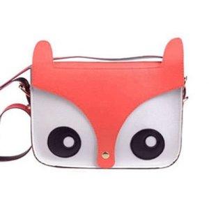 Cute Fox/Owl Retro Shoulder Messenger Bag