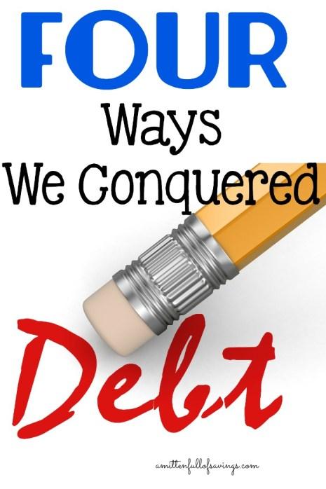 4 Ways We Conquered Debt