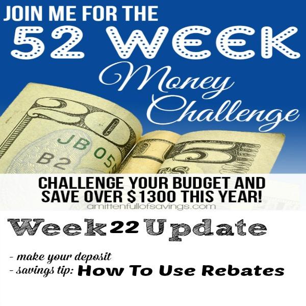52 week challenge how to use rebates FB