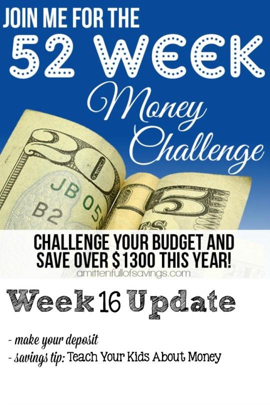52 Week Challenge: Saving Money Tips- Teach Your Kids About Money