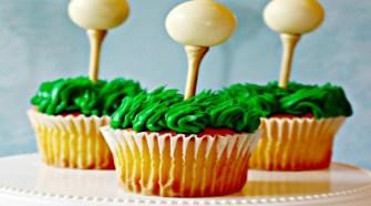 Easy Golf Ball Cupcakes