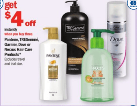 Deal on TRESemme products at Meijer