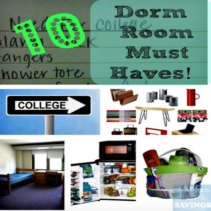 List Of 10 Dorm Room Essentials & Printable Checklist